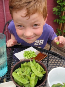 Edamame at Bagu Happy Hour in Minneapolis