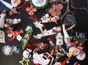 Ornaments from Christmases Past