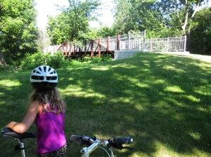 Biking Bridge Along Minnehaha Parkway