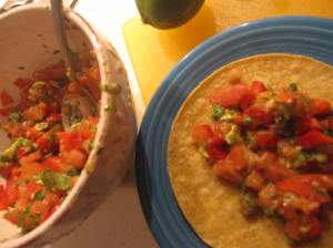 Candy Salsa on Corn Tortilla