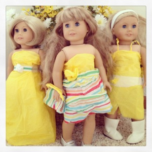 American Girls Dressed in Yellow