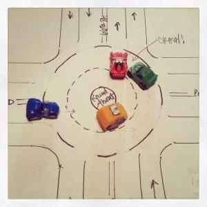 Potential Roundabout Sideswipe