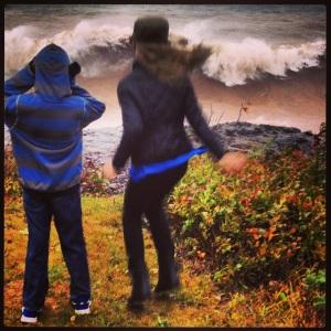 Waves Crashing, Coming Closer, Run!